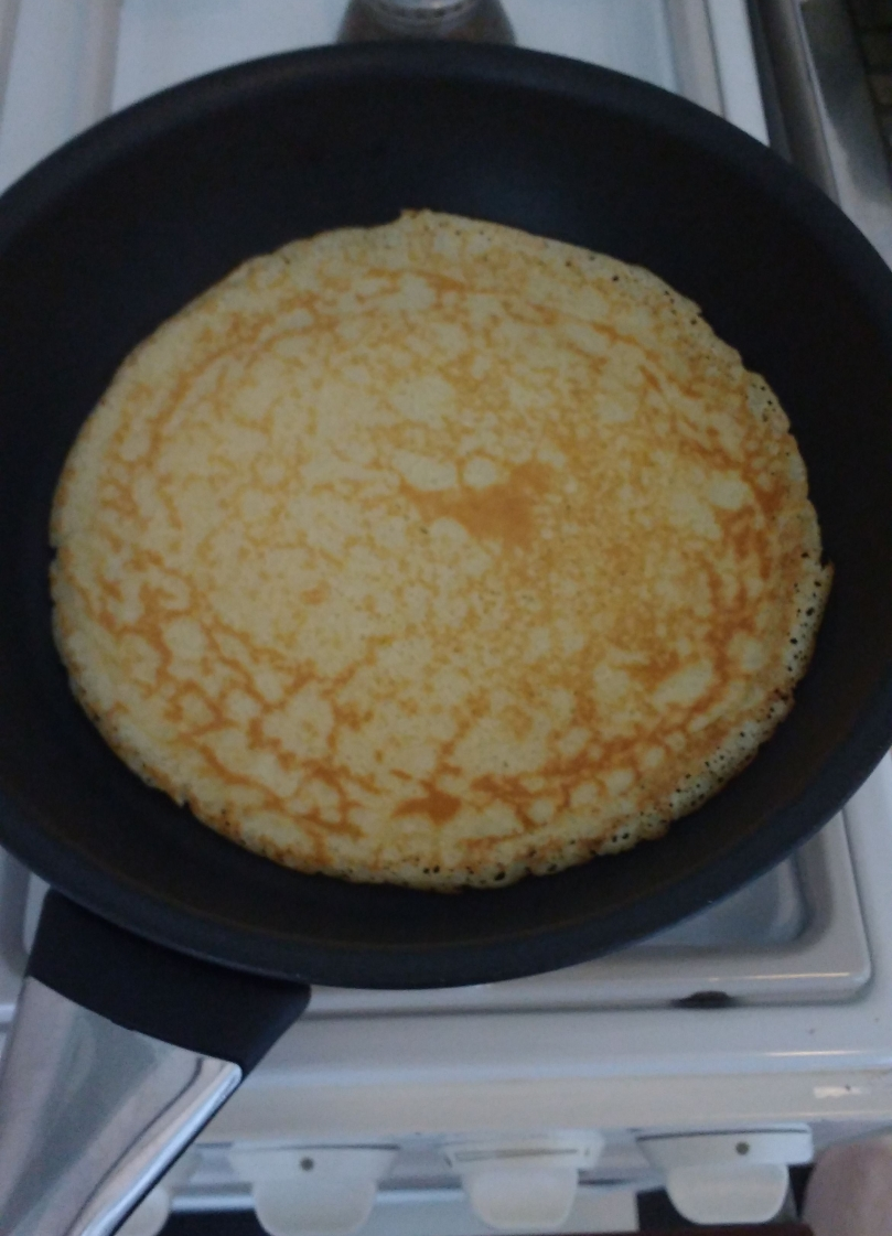 Pannenkoek in de pan