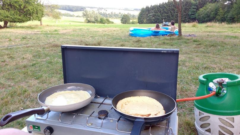 Pannenkoeken bakken in Frankrijk